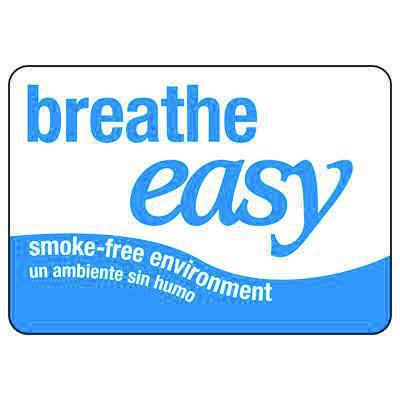 Bilingual Oklahoma Breathe Easy Sign