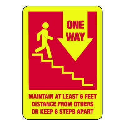 One Way Stairs Sign (Down Arrow)