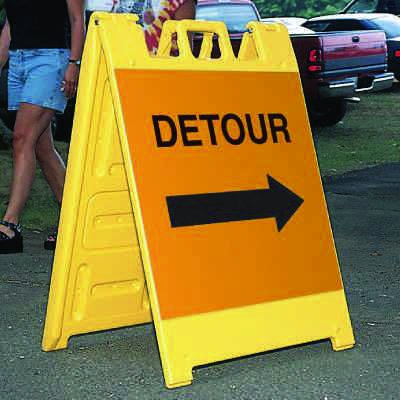 Standard A-Frame Detour Signs - Right Arrow