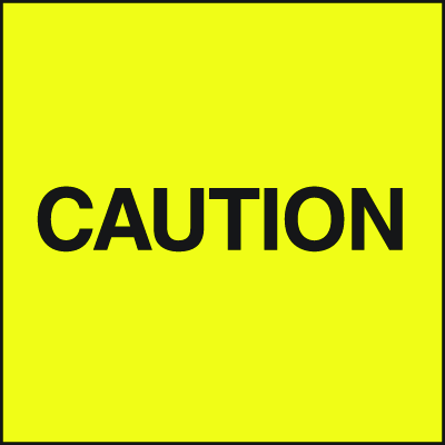 Standard A-Frame Caution Signs