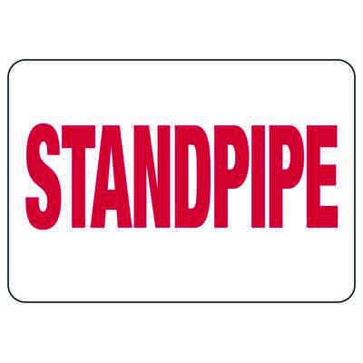 Fire Sprinkler Control Signs - Standpipe