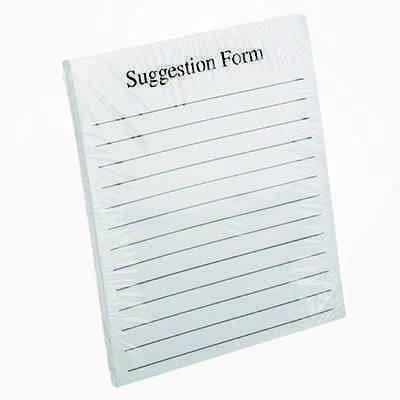Extra Suggestion Forms