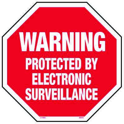 Warning Protected By Electronic Surveillance - Surveillance Sign