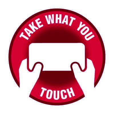 Floor Safety Signs - Take What You Touch