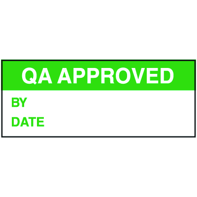 QA Approved By Date Tamper Evident Labels