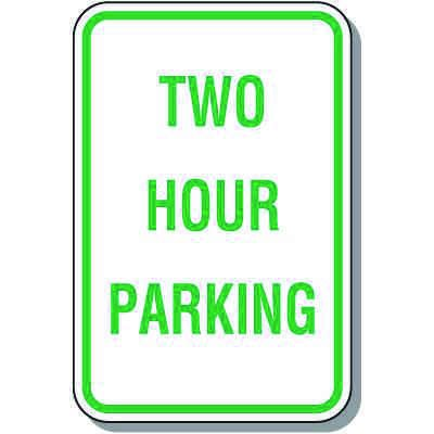 Time Limit Parking Signs - Two Hour Parking