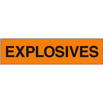 Explosives Truck and Tank Signs