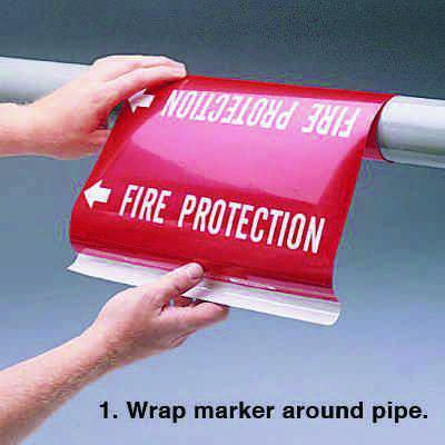 Ultra-Mark® Self-Adhesive High Performance Pipe Markers - Chilled Water Return