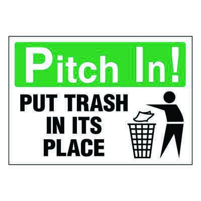 Ultra-Stick Signs - Pitch In