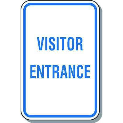 Visitor Parking Signs - Visitor Entrance