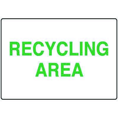 Visual Workplace Recycling Signs - Recycling Area