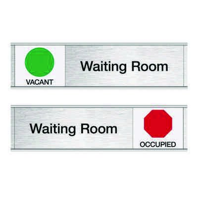 Waiting Room-Vacant/Occupied - Engraved Facility Sliders