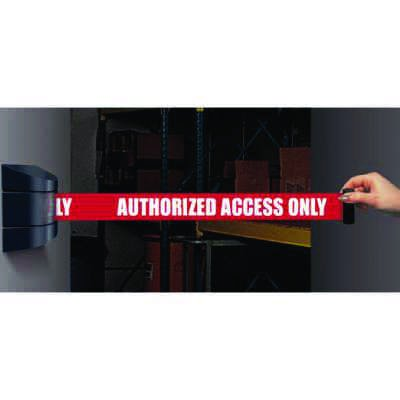 Wall Mount Security Tensabarriers- Authorized Access Only 897-15-S-33-NO-RAX-C