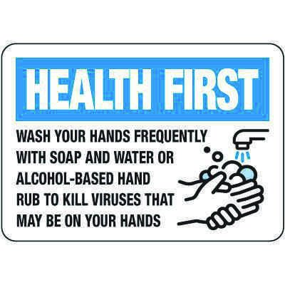 Wash Hands Frequently Sign