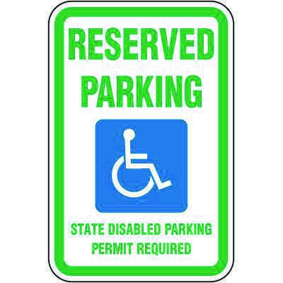 Washington State Handicap Signs - Reserved Parking State Disabled
