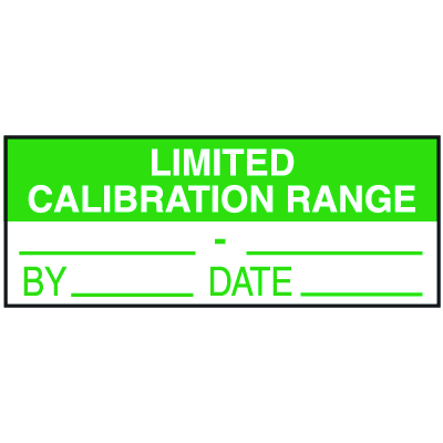 Limited Calibration Range By Date Write On Labels