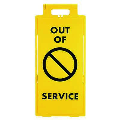 Cortina Lockin'arm Floor Stand Signs - Out of Service with graphic 03-600-41