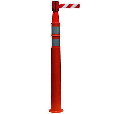EZ Grab Delux Stackable Delineator with Reflective Collars and Cone Topper Barrier