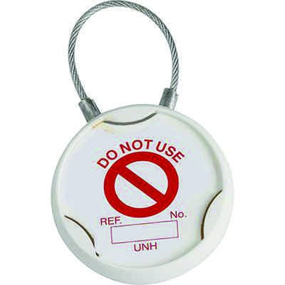 Universal Tag Holder with Plastic Coated Straps