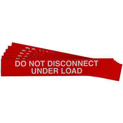 """""""Do Not Disconnect Under Load"""" Solar Warning Labels"""