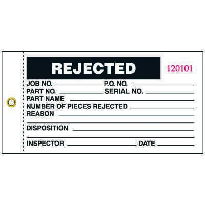 3-part Rejected Status Tag