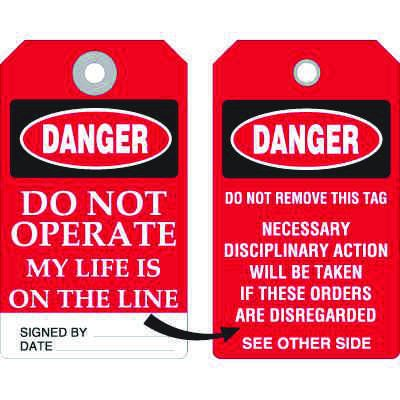 Accident Prevention Tag