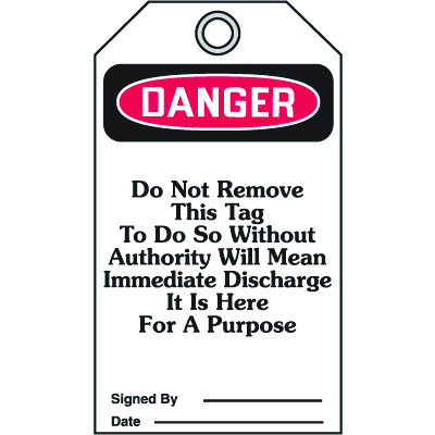 Accident Prevention Safety Tags - Danger Do Not Close This Valve