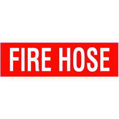 Fire Hose Self-Adhesive Vinyl Fire Equipment Signs