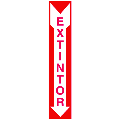 Extintor (Spanish) Self-Adhesive Vinyl Fire Equipment Signs