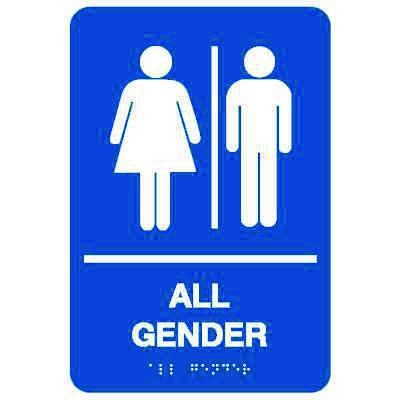 All Gender - Economy Braille Signs