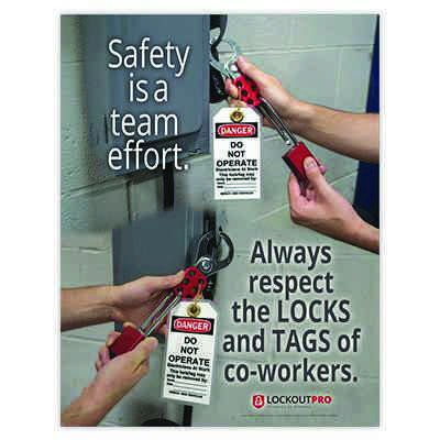 Always Respect Locks and Tags - Lockout Tagout Training Kit