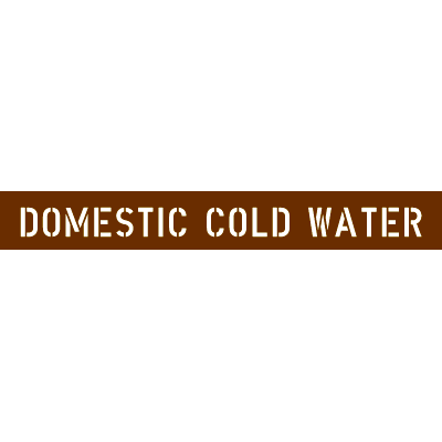 ANSI Letter Size Pipe Stencils - Domestic Cold Water