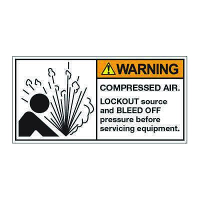 ANSI Z535 Safety Labels - Warning Compressed Air