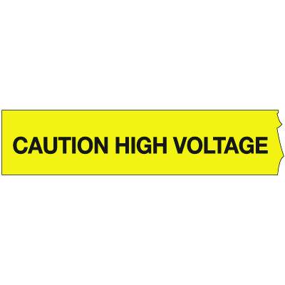 Barricade Tape - Caution High Voltage