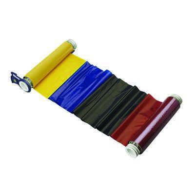 BBP®85 Series Printer Ribbon: R10000, Black/Blue/Red/Yellow, 6.25 in W x 200 ft L, 15 in Panels