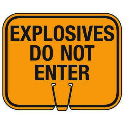 Blasting Cone Signs - Explosives Do Not Enter