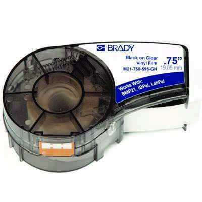 Brady M21-750-430 BMP21 Plus Label Cartridge - Black on Clear
