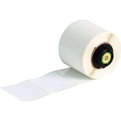 BMP®71 TLS 2200® Series ToughBond® Label: Polyester, White, 1.5 in H x 1.5 in W