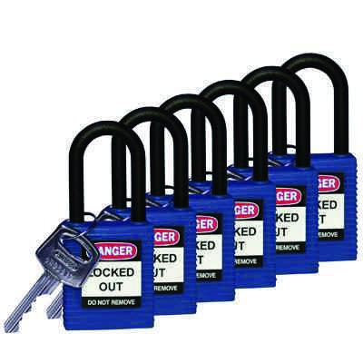 """Brady Blue Compact Safety Padlock - Keyed Different - 1"""" Shackle (123325)"""