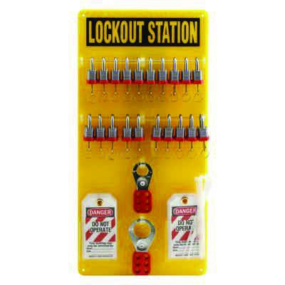 Brady Fully Equipped Yellow Lockout Station - Contains 48 Components (51194)