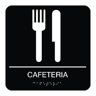 Cafeteria - Graphic Braille Signs