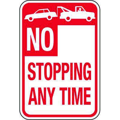 California Traffic & Parking Signs - No Stopping Anytime (Tow-Away Zone)