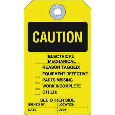 Caution Electrical Mechanical Reason - Safety Ultra Tag