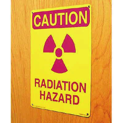Ultra-Stick Signs - Caution Radiation Area