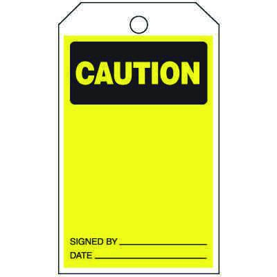 Caution - Safety Tags On-A-Roll