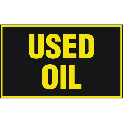 Chemical Label Value Packs - Used Oil