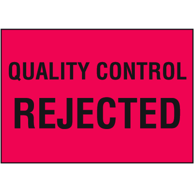 Quality Control Rejected Color Coded QC Labels