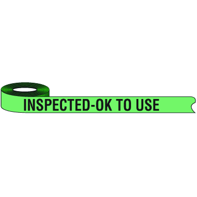Color-Coded QC Shipping Tape - Inspected
