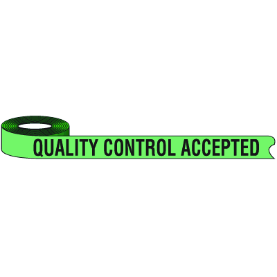 Color-Coded QC Shipping Tape - Quality Control