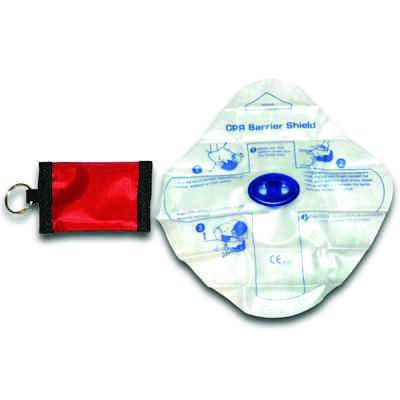 CPR Barrier Mask in Keychain Pouch MS-21105